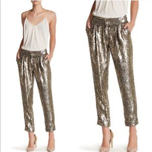 "Alice + Olivia ""Arthur"" Sequin cropped pants 2"